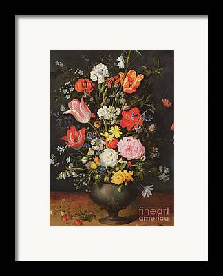 Still Life With Daffodils Framed Prints