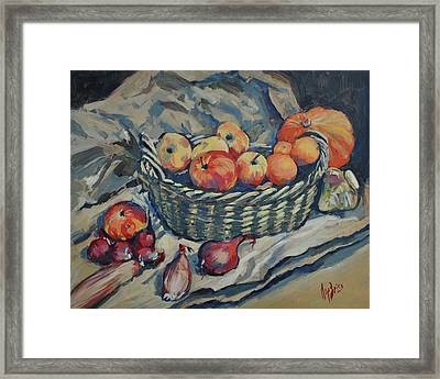 Still Life With Fruit And Vegetables Framed Print