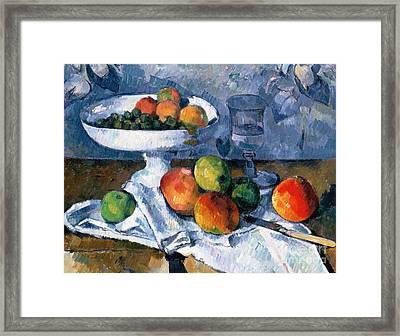 Still Life With Fruit Dish Framed Print