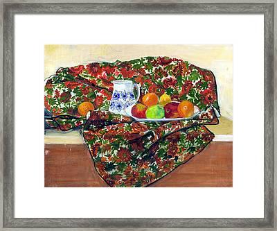 Still Life With Fruit Framed Print by Ethel Vrana