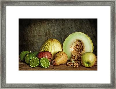Still Life With Fruit Framed Print