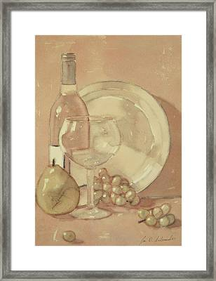 Still Life With Glass And Plate  Framed Print