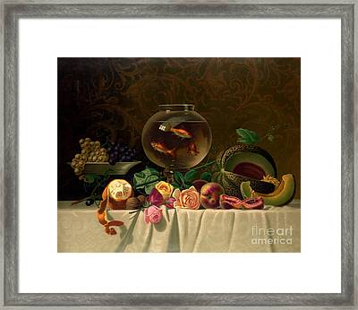 Still Life With Goldfish 1873 Framed Print by Padre Art