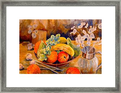 Still Life With Honesty Framed Print by Wendy Head