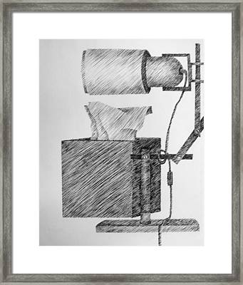 Still Life With Lamp And Tissues Framed Print by Michelle Calkins