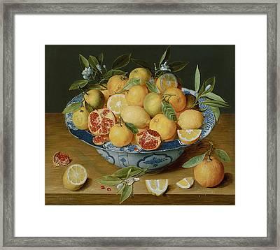 Still Life With Lemons Framed Print
