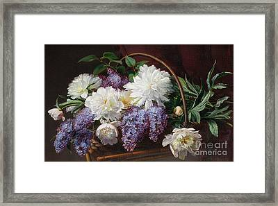 Still Life With Lilacs Framed Print by Celestial Images