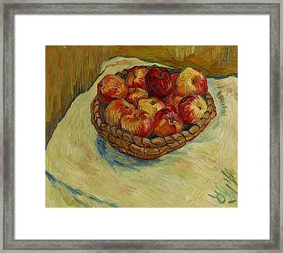Still Life With Moravian Apples Framed Print by Vitali Komarov