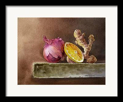 Onion Framed Prints