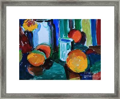 Still Life With Orange Framed Print by Andrey Semionov