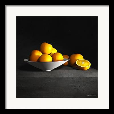 Still Life With Tangerines Framed Prints