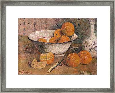 Still Life With Oranges Framed Print by Paul Gauguin