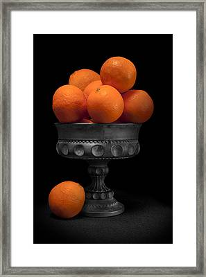Still Life With Oranges Framed Print by Tom Mc Nemar