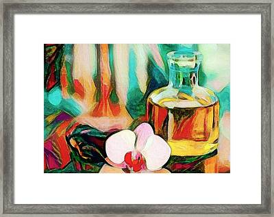 Still Life With Orchid Framed Print by Roger Smith