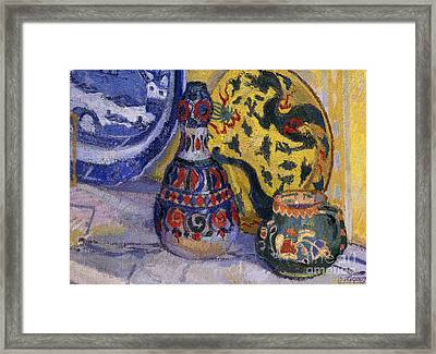 Still Life With Oriental Figures, 1913  Framed Print by Spencer Frederick Gore