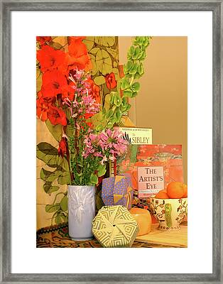 Still-life With Origami Boxes Framed Print