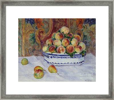 Still Life With Peaches, 1881 Framed Print