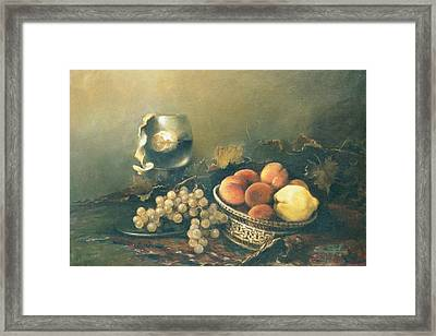 Still-life With Peaches Framed Print by Tigran Ghulyan