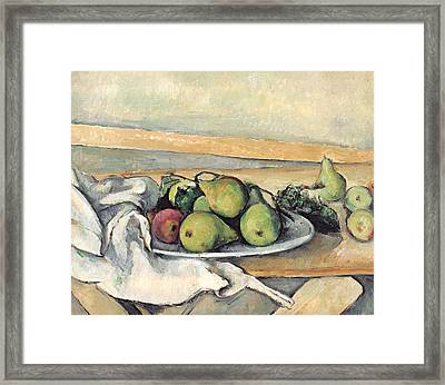 Still Life With Pears Framed Print by Paul Cezanne