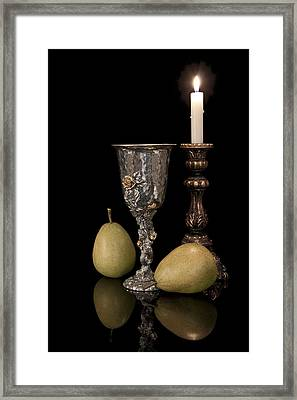 Still Life With Pears Framed Print by Tom Mc Nemar