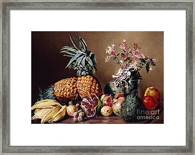 Still Life With Pineapples, 1908 Framed Print
