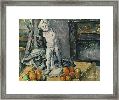 Still Life With Plaster Cupid Framed Print