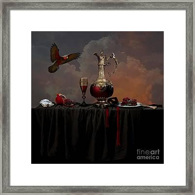 Framed Print featuring the photograph Still Life With Pomegranate by Alexa Szlavics