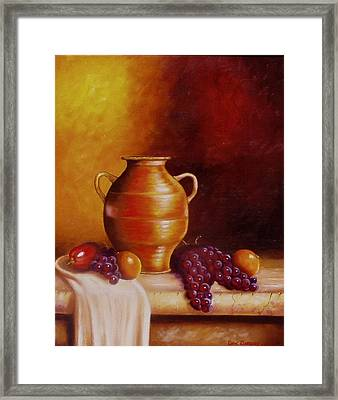 Still Life With Pot Framed Print by Gene Gregory