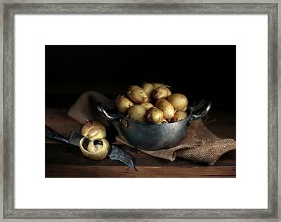 Still Life With Potatoes Framed Print