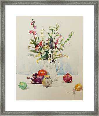 Still Life With Pomegranate Framed Print