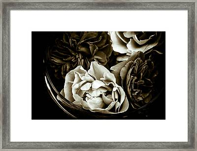 Still Life With Roses Framed Print by Frank Tschakert