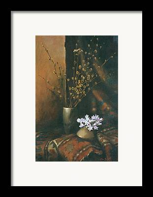 Still-life With A Snow-drops And An Old Rug Framed Prints