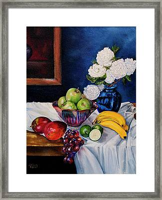 Still Life With Snowballs Framed Print