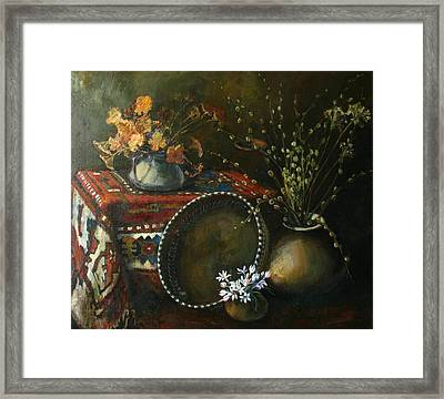 Still-life With Snowdrops Framed Print