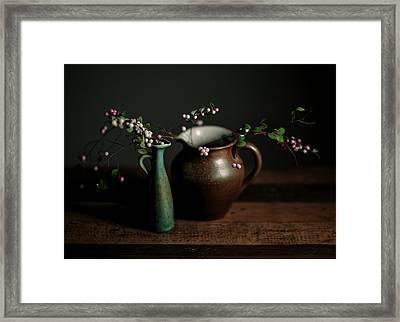 Still Life With Stoneware  Framed Print