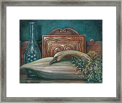 Still Life With Swan Framed Print by Colleen  Maas-Pastore