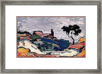 inspired by Andre Derain Framed Print by Pemaro