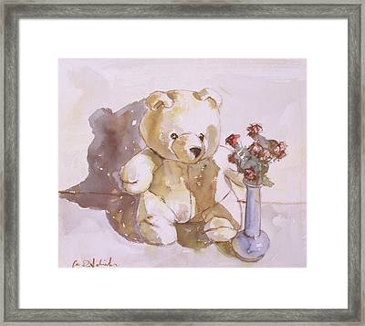 Still Life With Teddy Bear Framed Print