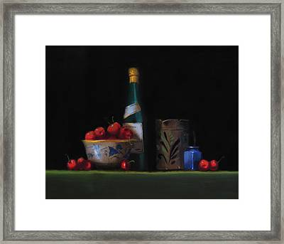 Still Life With The Alsace Jug Framed Print by Barry Williamson