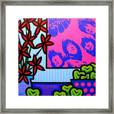 Still Life With The Beatles Framed Print by John  Nolan