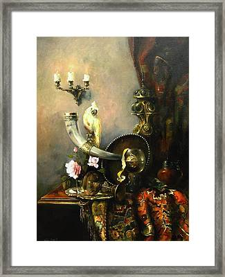 Still-life With The Dojra Framed Print