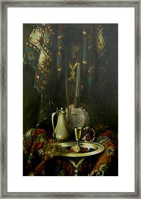 Still-life With The Kamancha Framed Print