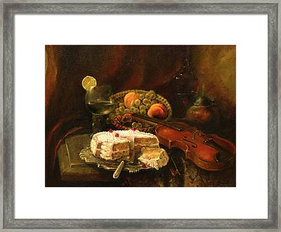 Still-life With The Violin Framed Print