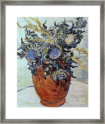 Still Life With Thistles Framed Print by Vincent van Gogh