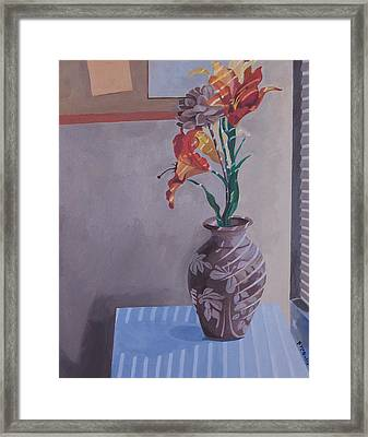Still Life With Tiger Lilies Framed Print