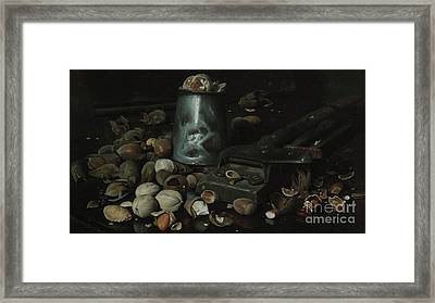 Still Life With Tin Can And Nuts Framed Print