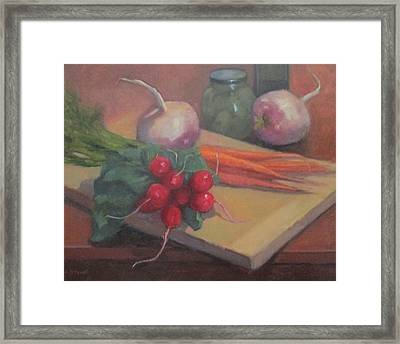 Still Life With Turnips Framed Print by Jennifer Boswell