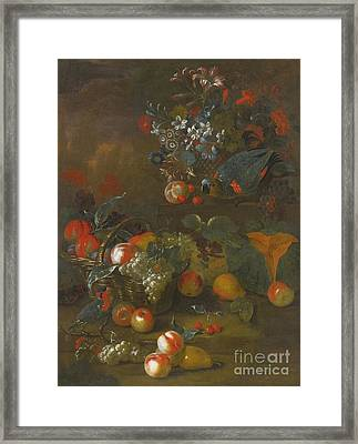 Still Life With Two Parrots Framed Print
