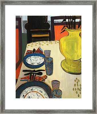 Still Life With Two Plates Framed Print