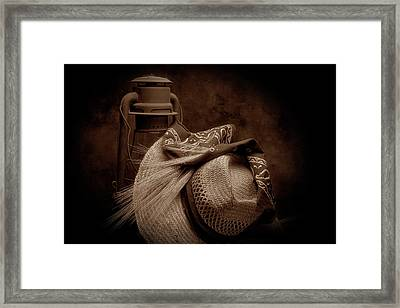 Still Life With Wheat II Framed Print